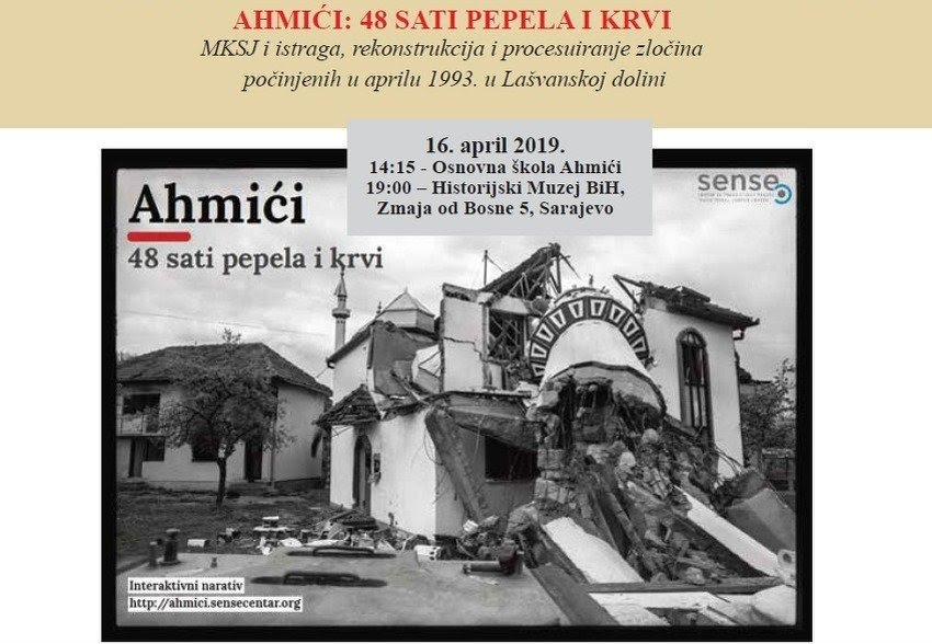 """Prezentacija narativa """"Ahmići: 48 sati pepela i krvi"""" večeras u Historijskom muzeju BiH"""