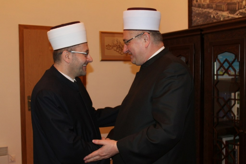 Delegacija Mešihata IZ u Hrvatskoj u posjeti Muftijstvu mostarskom