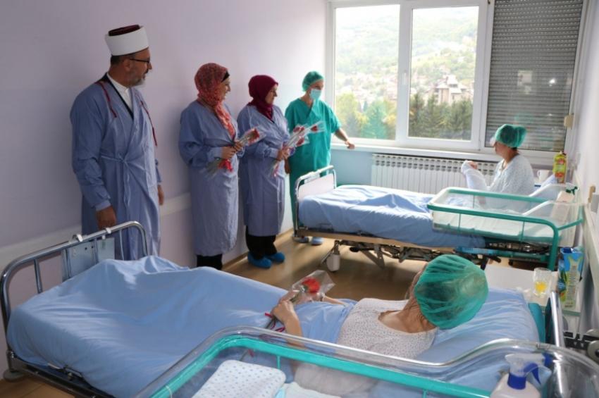 Delegacija Muftijstva travničkog posjetila porodilje u Kantonalnoj bolnici povodom nove 1439. hidžretske godine