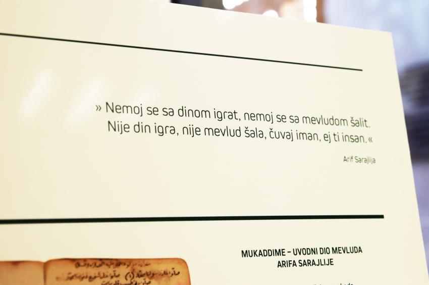 Sarajevo: Otvorena izložba o mevludu