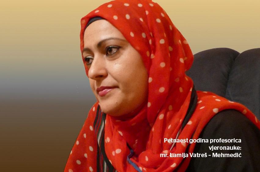 Lamija Vatreš – Mehmedić, istaknuta profesorica islamske vjeronauke iz Doboja
