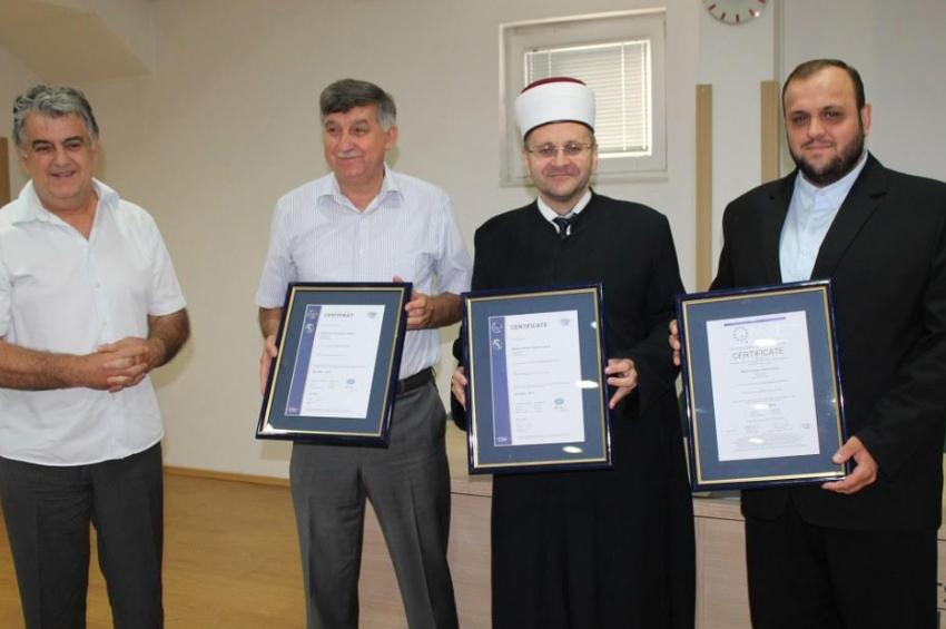 Medžlisu Islamske zajednice Mostar dodijeljen certifikat ISO standarda