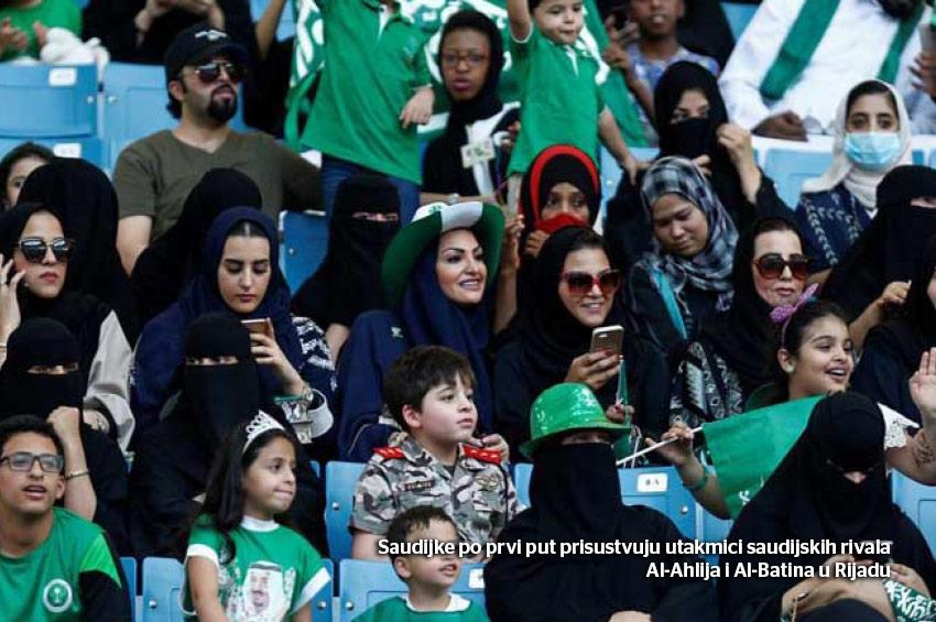 Saudijke na fudbalskom stadionu u Rijadu