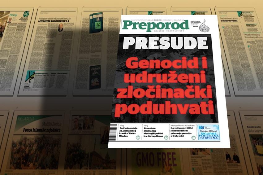 Novi broj Preporoda: PRESUDE , Genocid i udruženi zločinački poduhvati