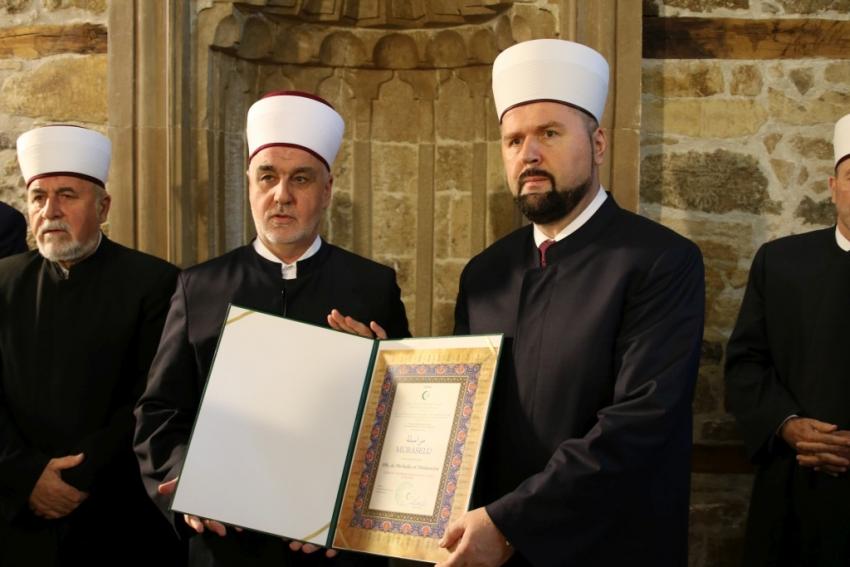 Uručena murasela novom muftiji zeničkom Mevludinu ef. Dizdareviću