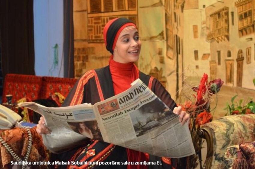 Saudijka na evropskim pozornicama