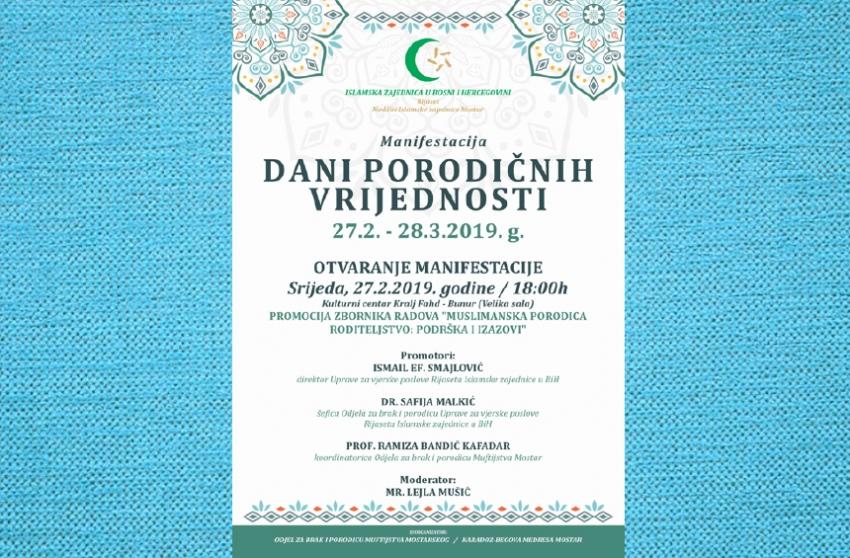 Mostar: Manifestacija Dani porodičnih vrijednosti