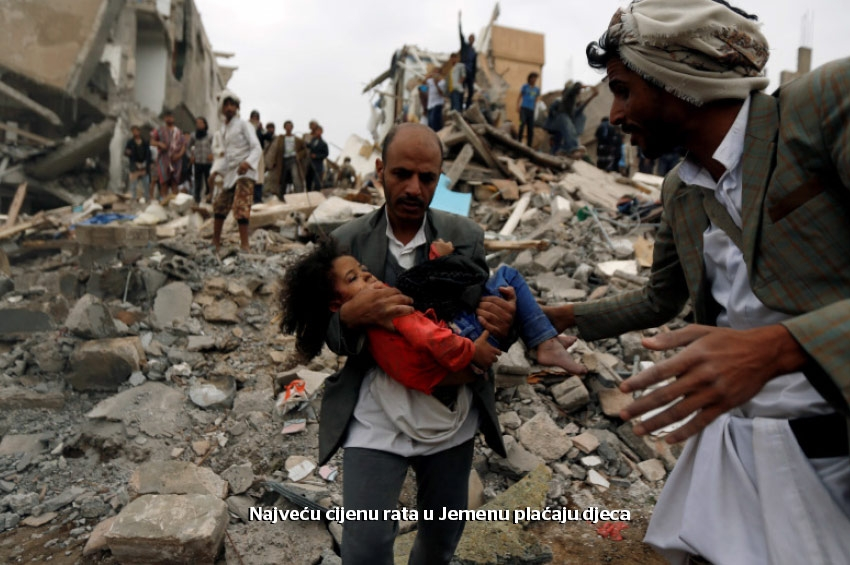 UN: U napadima iz zraka u Jemenu za deset dana ubijeno 136 civila