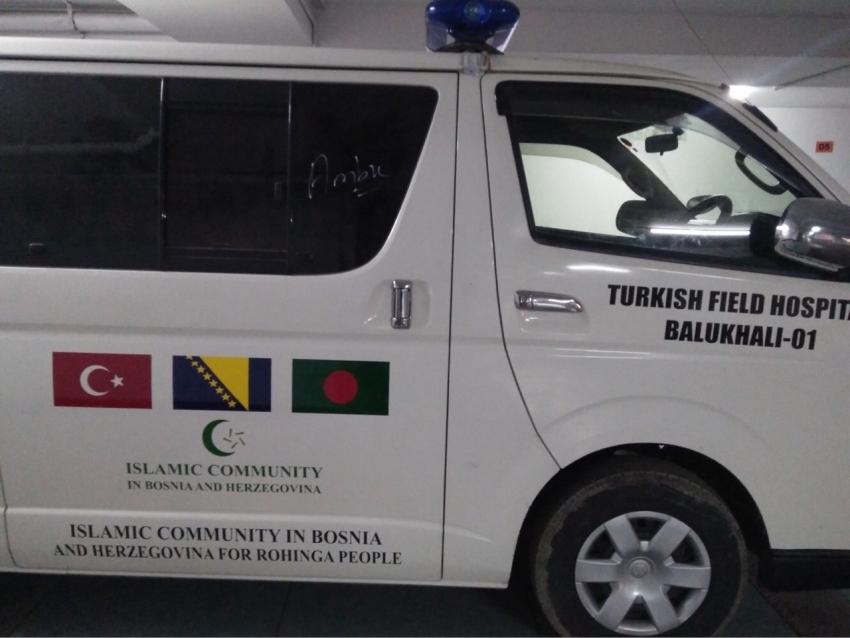 Vozila hitne pomoći za izbjeglice koja su obezbijedili građani BiH putem Islamske zajednice
