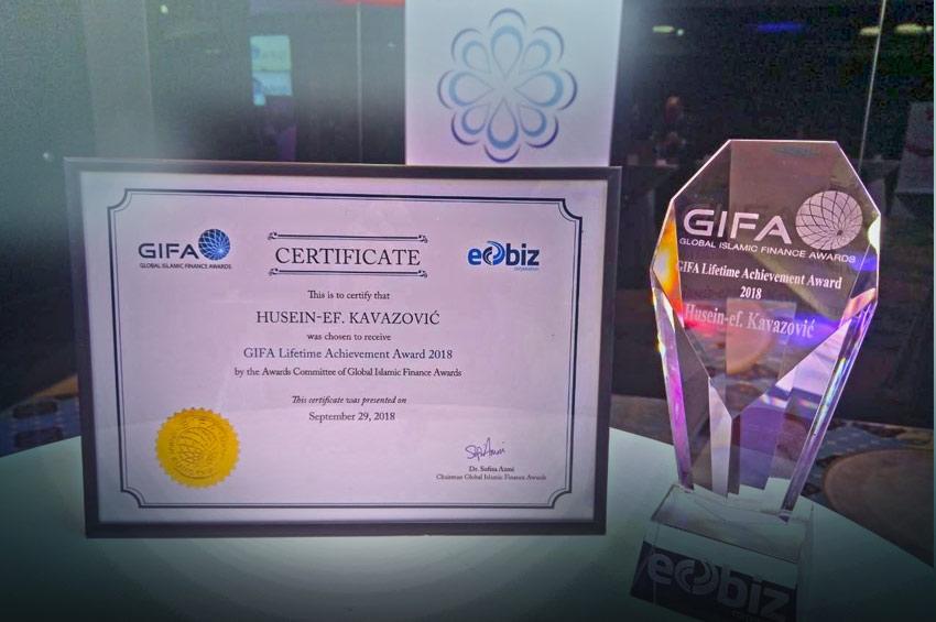 SHF 2018: Global Islamic Finance Awards (GIFA) nagrada reisu-l-ulemi Husein ef. Kavazoviću