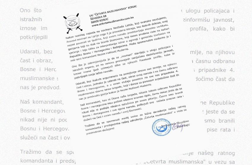 Saopćenje: Lažno dovođenje boraca Armije u vezu s napadom na novinara Latića