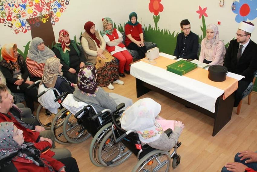 "Ramazanska posjeta KJU ""Dom za socijalno, zdravstveno zbrinjavanje osoba sa invaliditetom i drugih osoba"""